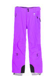 Violet ski pants Royalty Free Stock Images