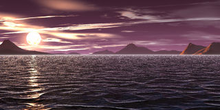 Violet sky. Violet sunrise royalty free illustration