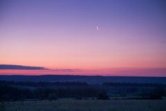 Violet sky. Before the dawn Stock Images