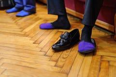 Violet Slippers arkivbild