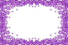 Violet snow flakes Royalty Free Stock Images