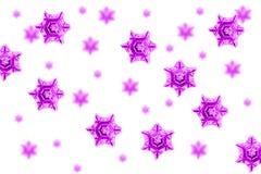 Violet snow flakes Stock Image