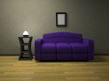 Violet sofa Stock Photos