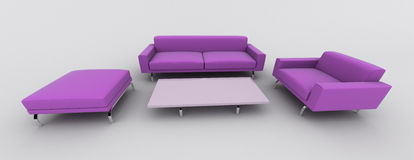 Violet sofa armchair stock illustration