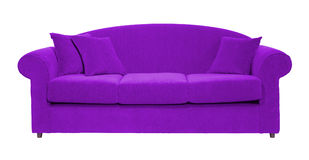 Violet sofa Stock Image