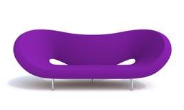Violet sofa. Modern violet sofa on white background Stock Photo