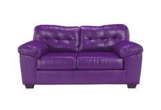 Violet sofa on white background Stock Photos