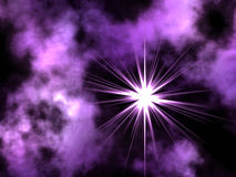 Violet space. Royalty Free Stock Photos