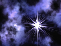 Violet space. Royalty Free Stock Photography