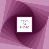 Violet spiral frame Stock Photos