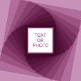 Violet spiral frame Stock Photos