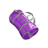 Violet sport bag Royalty Free Stock Photo