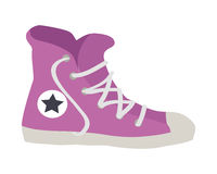 Violet Sport Footwear. Illustration of Sneaker Royalty Free Stock Photo