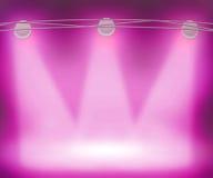 Violet Spotlights Background Stock Photography