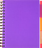 Violet squared notebook sheet Royalty Free Stock Images