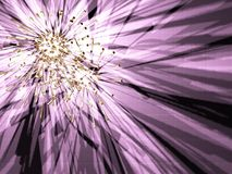 Violet star. Strange metallic star on the violet shadow background. Illustration made on computer Royalty Free Stock Photo