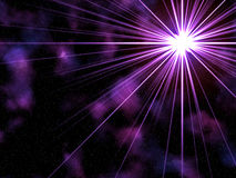 Violet star burst Stock Photo