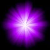 Violet Star Burst Photographie stock