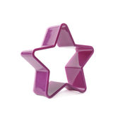 Violet star shaped baking mold form Royalty Free Stock Images