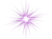 Violet star on a white background. Royalty Free Stock Image