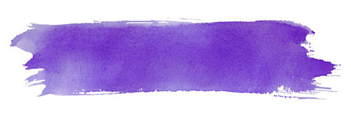 Violet stroke of paint brush Royalty Free Stock Photos