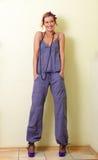 Violet suit Stock Images