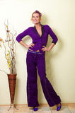 Violet suit Royalty Free Stock Image