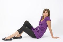 violet sukienkę obrazy stock