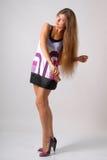 violet sukienkę Zdjęcie Stock