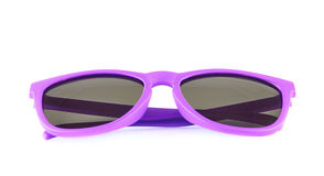 Violet sun glasses isolated royalty free stock photos