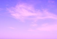 Violet sun rise sky with clouds Royalty Free Stock Photography