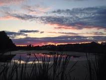Violet Sunset Imagens de Stock Royalty Free