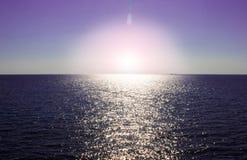 Violet sunset stock image