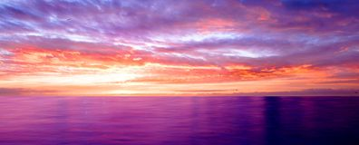 Violet sunset Royalty Free Stock Photography