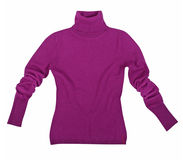 Violet sweater Stock Photo
