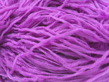 Violet synthetic yarn Royalty Free Stock Image