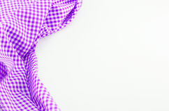 Violet Tablecloth textile on white background Stock Image