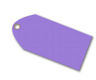 Violet Tag Royalty Free Stock Image