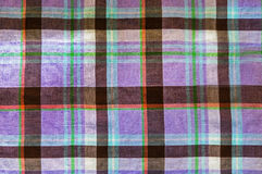 Violet tartan close up background Royalty Free Stock Images