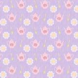 Violet Tea Time bakgrundsmodell Royaltyfria Foton