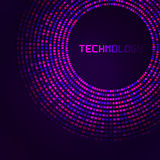Violet technology round for your logo template Royalty Free Stock Photo