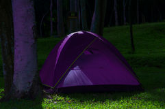Violet  tent Royalty Free Stock Images