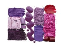 Violet cosmetics texture royalty free stock photography