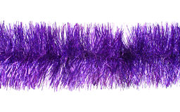 Violet tinsel Royalty Free Stock Photo