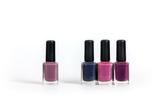 Violet tone nailpolishes Stock Photo