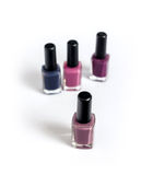 Violet tone nailpolishes Royalty Free Stock Photo