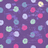 Violet tones elegant polka dot seamless pattern vector illustration