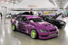 Violet Toyota Altezza nell'Expo 2012 del croco Immagine Stock