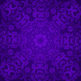 Violet tracery in the Indian style. Bohemian design Royal purple and ornament. Unique template for design or backdrop.  Stock Image