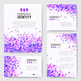 Violet triangle Identity-2 Royalty Free Stock Image